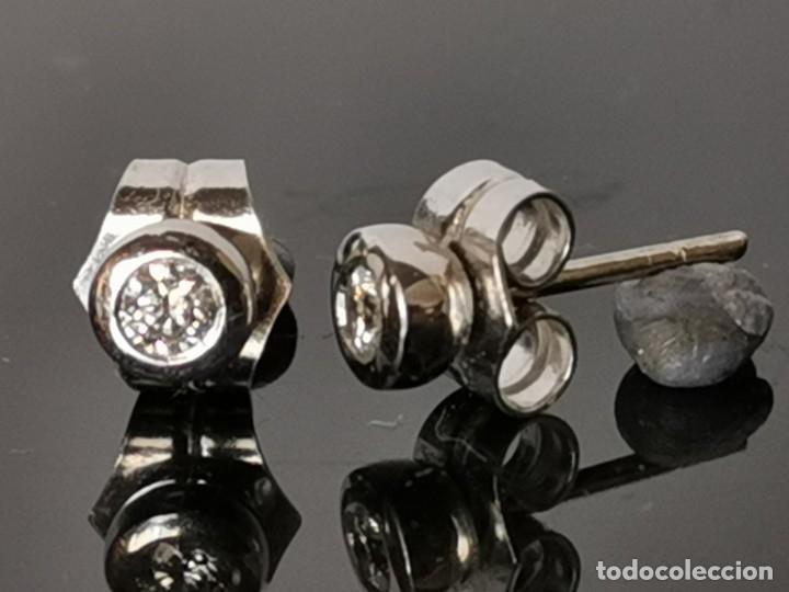 Joyeria: LIQUIDACIÓN, pendientes Dormilonas de diamantes 0,30ct SI-F en oro 18k - Foto 3 - 53223994