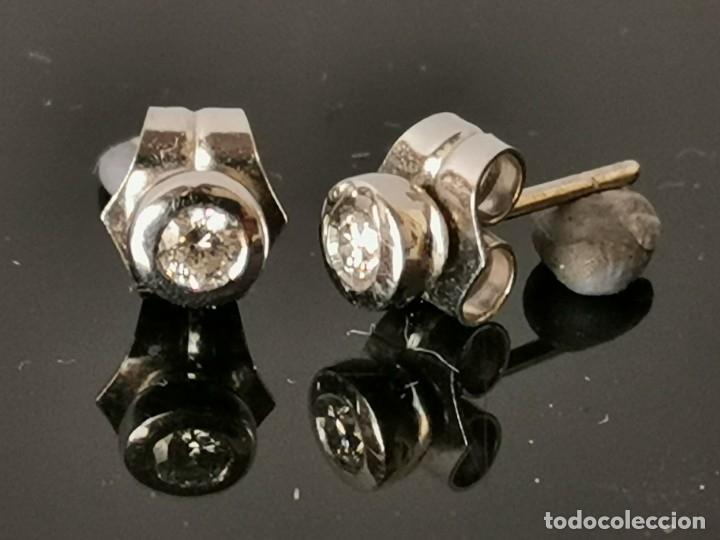 Joyeria: LIQUIDACIÓN, pendientes Dormilonas de diamantes 0,30ct SI-F en oro 18k - Foto 4 - 53223994