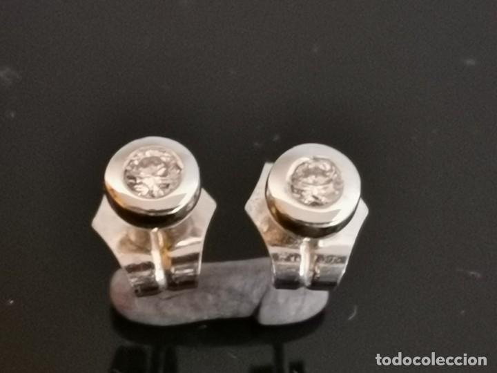 Joyeria: LIQUIDACIÓN, pendientes Dormilonas de diamantes 0,30ct SI-F en oro 18k - Foto 5 - 53223994