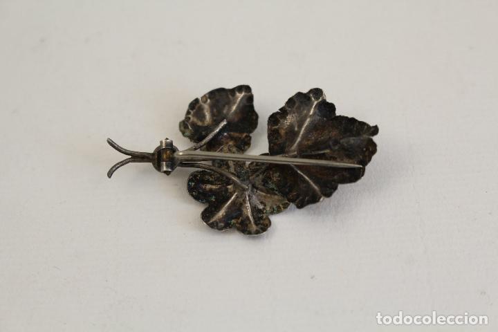 Joyeria: broche de plata en forma de hoja - Foto 2 - 183634510