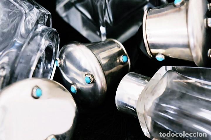Joyeria: LIQUIDACIÓN - PLATA LEY, TURQUESAS, CRISTAL DE ROCA - PRECIOSO JUEGO DE 3 PIEZAS - ORFEBRE - FOTOS - Foto 12 - 84520392