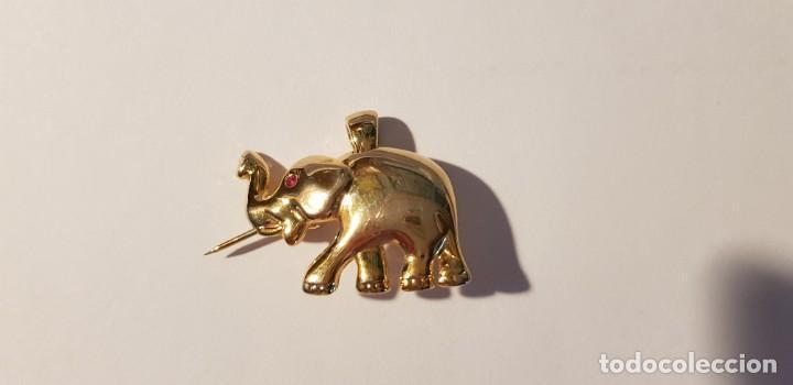 Joyeria: 176-Broche-Colgante, figura elefante, chapado oro (ver descripción) - Foto 5 - 183746436