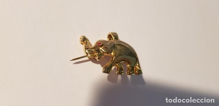 Joyeria: 176-Broche-Colgante, figura elefante, chapado oro (ver descripción) - Foto 6 - 183746436
