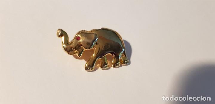 Joyeria: 176-Broche-Colgante, figura elefante, chapado oro (ver descripción) - Foto 8 - 183746436