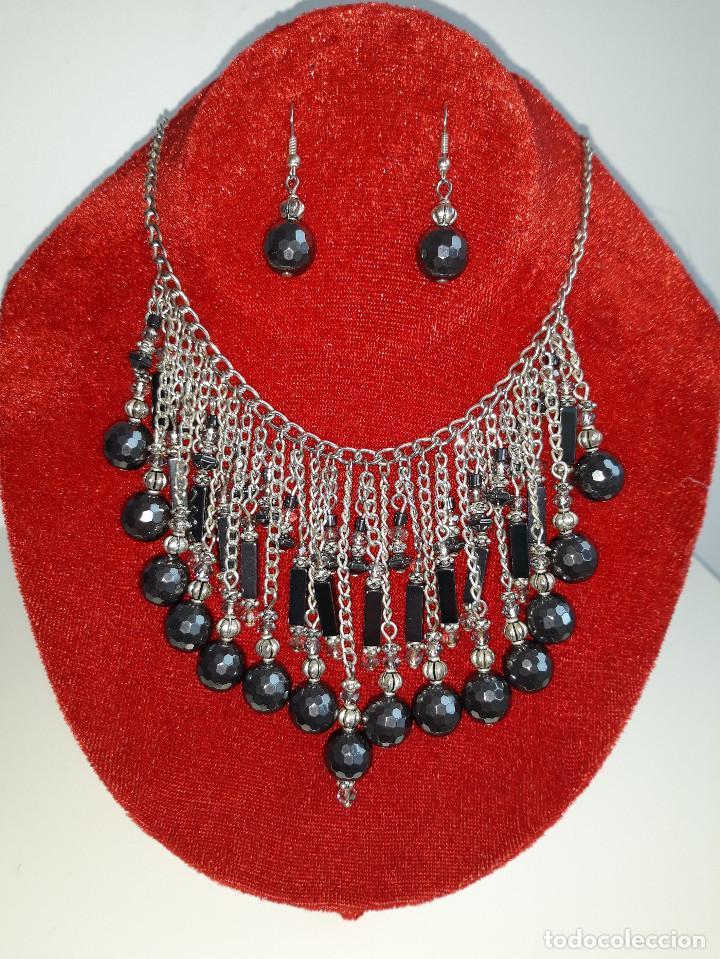 Joyeria: Collar de Hematites y Cristal Checo - Foto 2 - 183769658