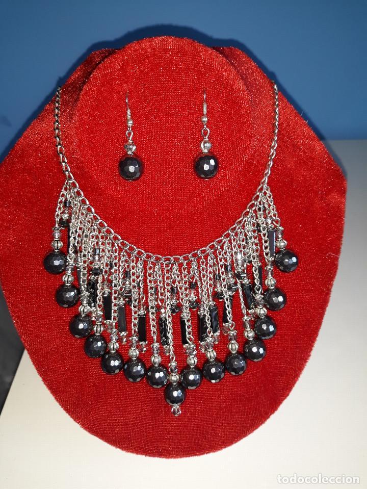 Joyeria: Collar de Hematites y Cristal Checo - Foto 3 - 183769658