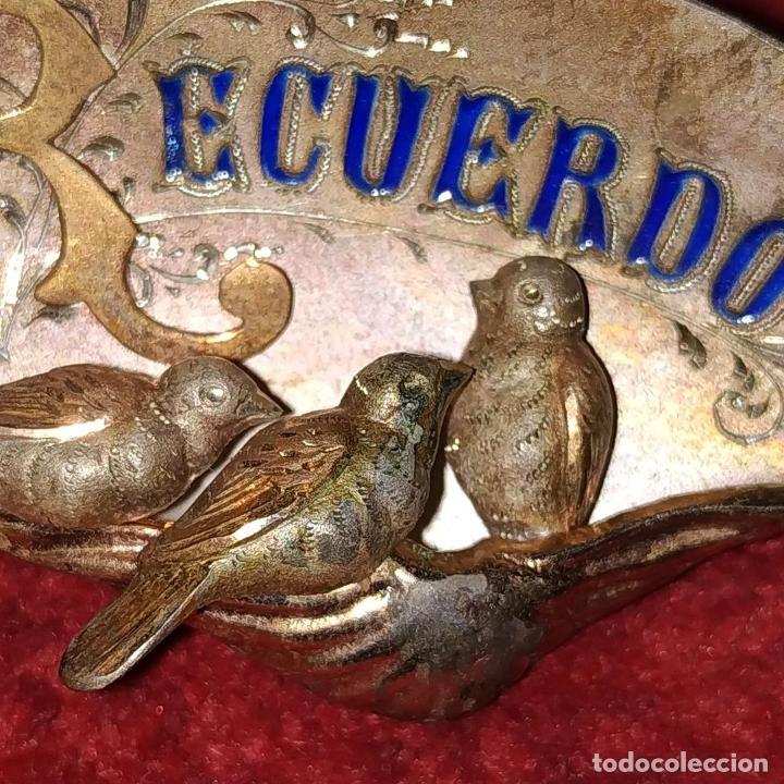 Joyeria: 2 BROCHES DE DAMA. PLATA CHAPADA EN ORO. ESPAÑA. SIGLO XIX-XX - Foto 8 - 183812707