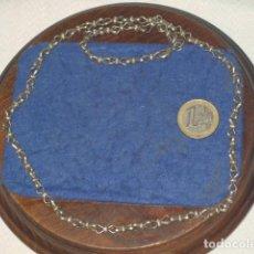 Joyeria: ANTIGUA CADENA DE PLATA,RARO ESLABON.. Lote 183859611