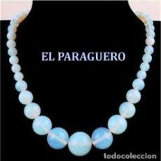 Joyeria: COLLAR VINTAGE DE OPALOS DE FUEGO TRANSPARENTES PESO 40 GRA - MEDIDA ABIERTO 49 CENTIMETROS - Nº113. Lote 183867597