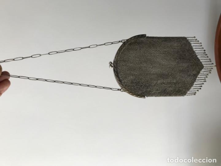 Joyeria: BOLSO DE MALLA DE PLATA Ley 800 milesimas Peso 210 gramos AÑOS 20 - Foto 3 - 183911526