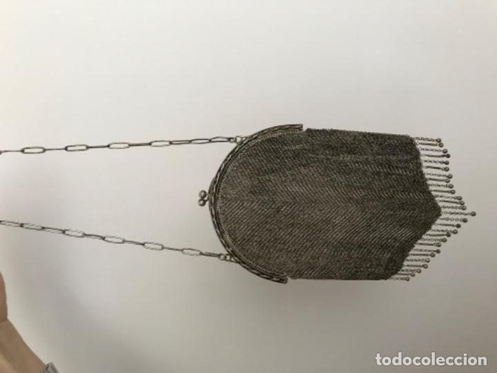 Joyeria: BOLSO DE MALLA DE PLATA Ley 800 milesimas Peso 210 gramos AÑOS 20 - Foto 4 - 183911526