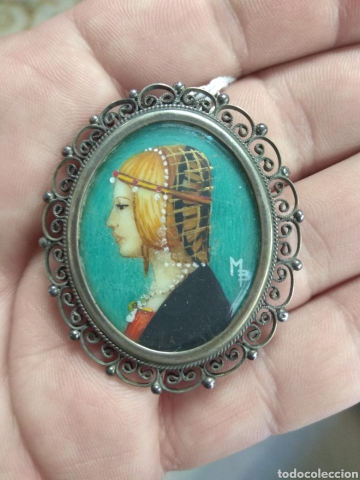 Joyeria: Precioso Broche - Camafeo de Plata - Pintura Dama de Perfil - - Foto 6 - 183987630