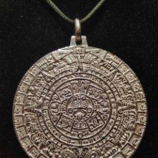 Joaillerie: GRAN MEDALLÓN CALENDARIO AZTECA EN PLATA DE LEY CONTRASTADA. Lote 184054326
