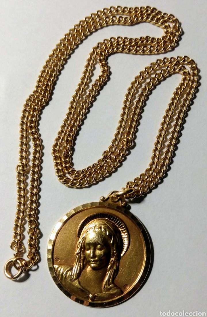 Joyeria: Medalla con cadena, en oro de 18 quilates. Años 20. - Foto 2 - 184151740