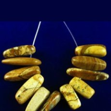 Joyeria: SARTA DE 11 COLGANTES JASPER NATURALES. Lote 184185591