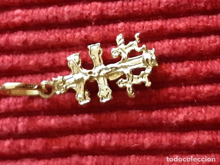 Joyeria: Pequeña cruz de caravaca en oro 18 quilates - Foto 2 - 184351642