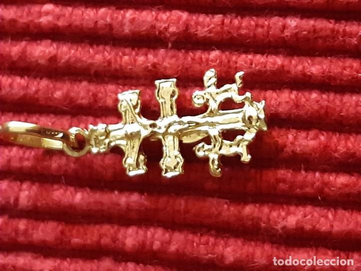 Joyeria: Pequeña cruz de caravaca en oro 18 quilates - Foto 4 - 184351642