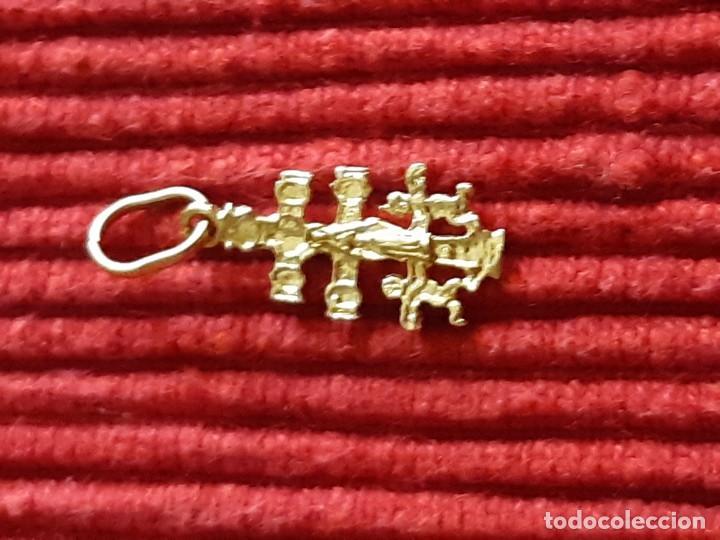 Joyeria: Pequeña cruz de caravaca en oro 18 quilates - Foto 7 - 184351642