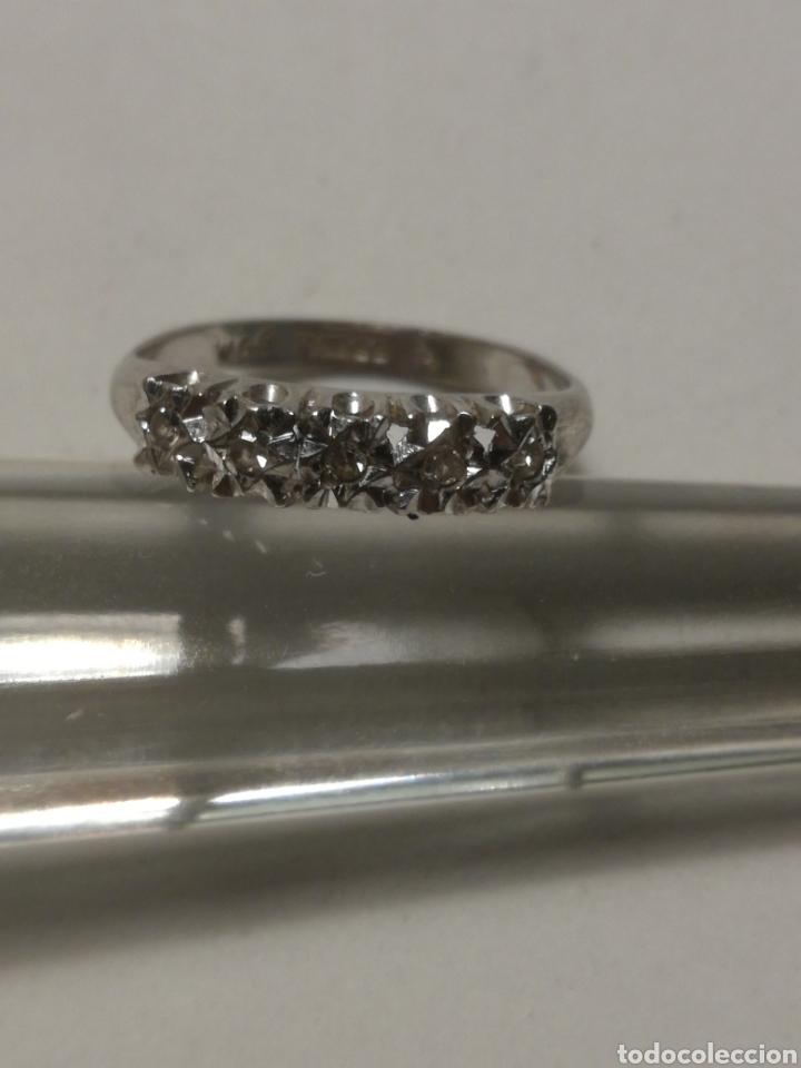 Joyeria: Anillo oro blanco 9k y diamante - Foto 5 - 184393885