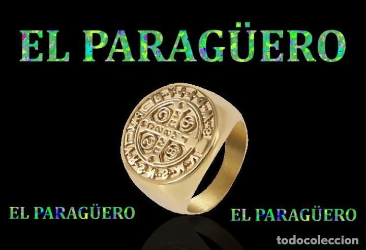 SELLO TEMPLARIO VINTAGE DE ORO AMARILLO DE 18 KILATES LAMINADO TALLA 12 PESA 23 GRA-Nº778 (Joyería - Anillos Antiguos)