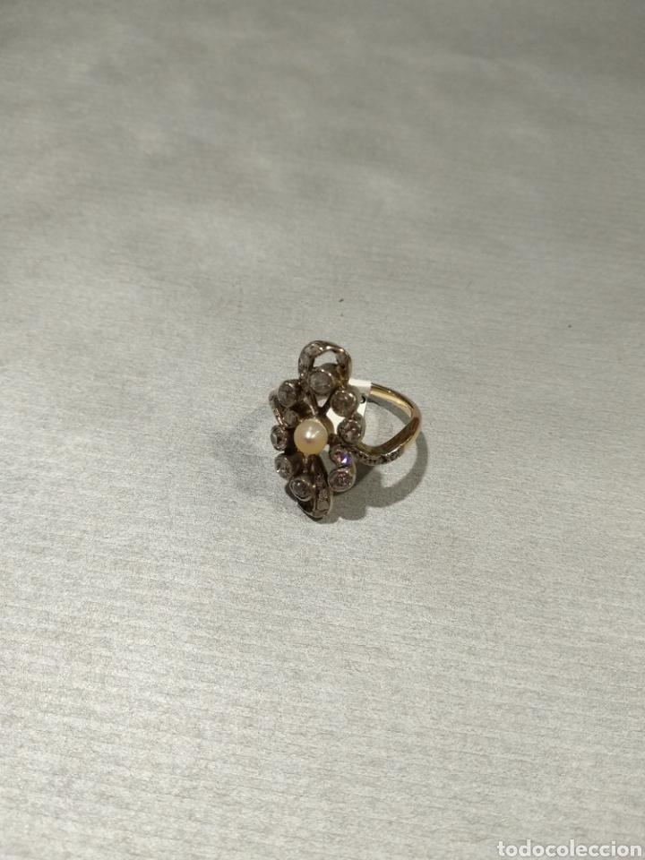 Joyeria: Sortija isabelina con diamantes - Foto 2 - 184768671