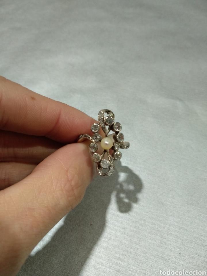 Joyeria: Sortija isabelina con diamantes - Foto 3 - 184768671