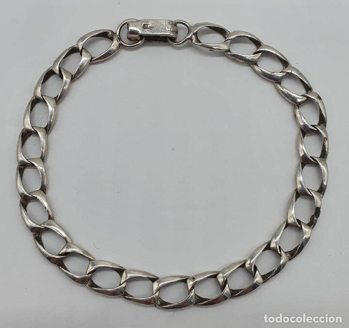 Joyeria: Pulsera antigua de argollas en plata de ley contrastada . - Foto 3 - 184836138