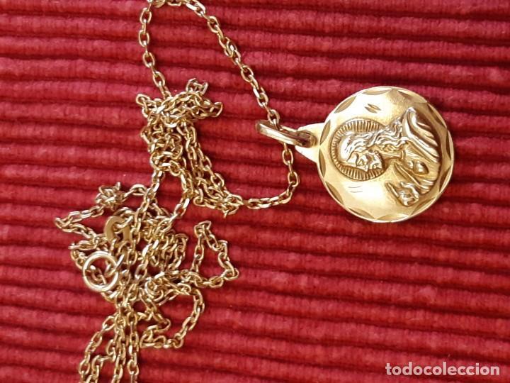 Joyeria: Cadena y medalla oro de 18 quilates - Foto 2 - 185968568