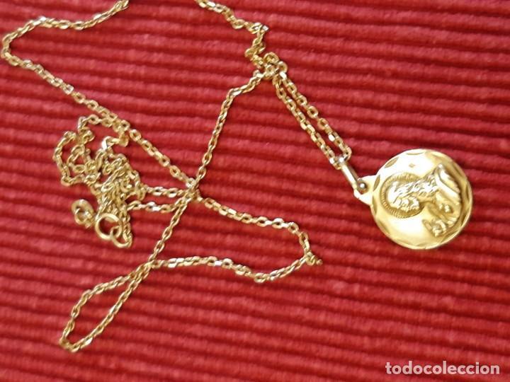 Joyeria: Cadena y medalla oro de 18 quilates - Foto 3 - 185968568