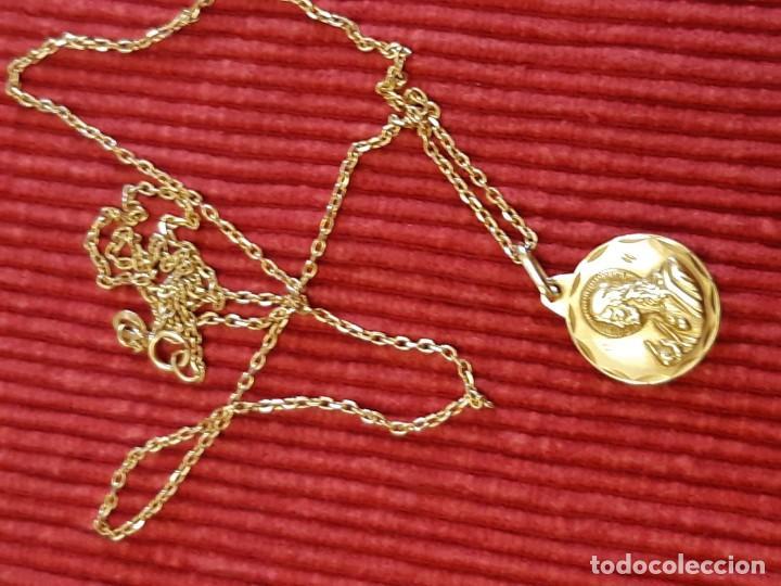 Joyeria: Cadena y medalla oro de 18 quilates - Foto 4 - 185968568