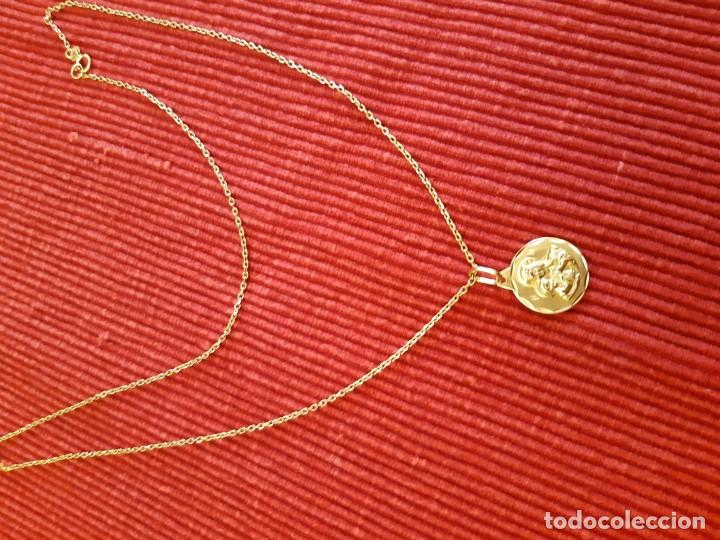 Joyeria: Cadena y medalla oro de 18 quilates - Foto 9 - 185968568