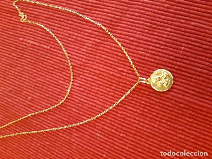 Joyeria: Cadena y medalla oro de 18 quilates - Foto 11 - 185968568