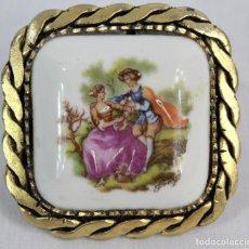 Joyeria: BROCHE EN PORCELANA DE LIMOGES.. Lote 186378905