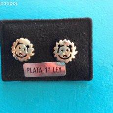 Joyeria: PENDIENTES DE PLATA DE LEY. SOL. CIERRE PRESIÓN. Lote 186409097