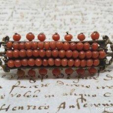 Joyeria: MARAVILLOSO BROCHE EN CORAL NATURAL DEL MEDITERRANEO,S. XIX. Lote 187200980