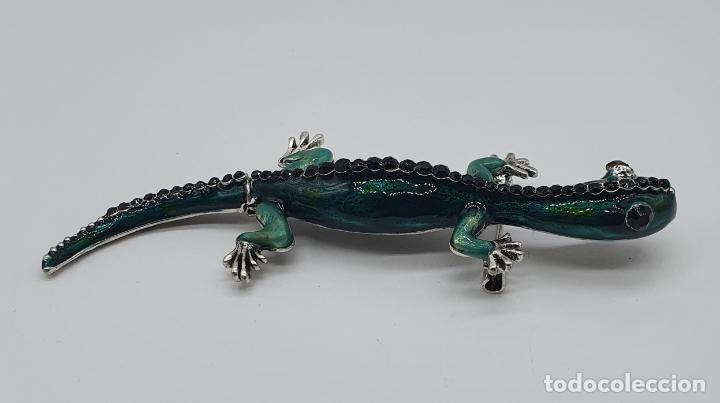 Joyeria: Magnífico y original broche de lagartija articulada con acabado en plata, esmaltes y pedrería . - Foto 5 - 187483578
