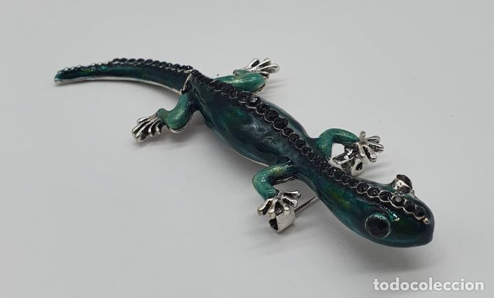 Joyeria: Magnífico y original broche de lagartija articulada con acabado en plata, esmaltes y pedrería . - Foto 6 - 187483578