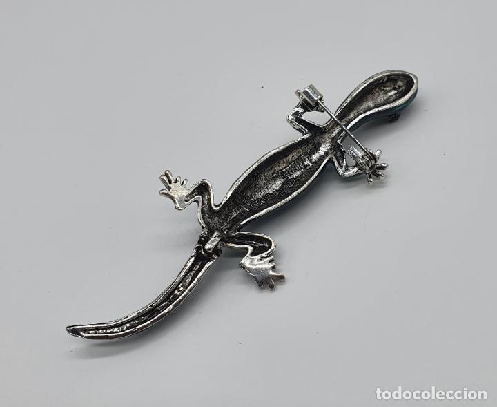 Joyeria: Magnífico y original broche de lagartija articulada con acabado en plata, esmaltes y pedrería . - Foto 7 - 187483578