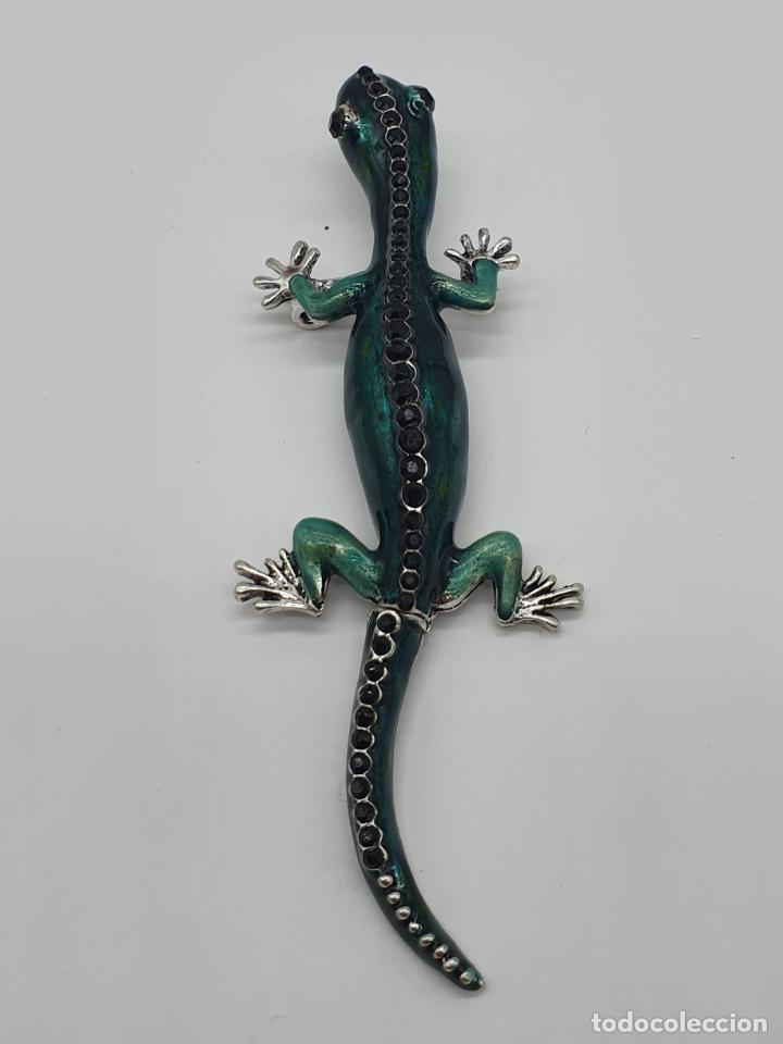 Joyeria: Magnífico y original broche de lagartija articulada con acabado en plata, esmaltes y pedrería . - Foto 8 - 187483578