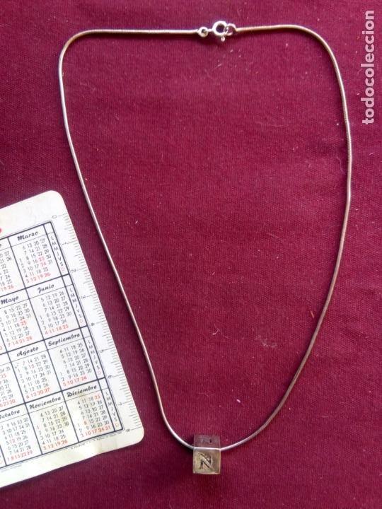 CADENA DE PLATA CONTRASTADA DE 925. COLGANTE PLATA (Joyería - Cadenas Antiguas)