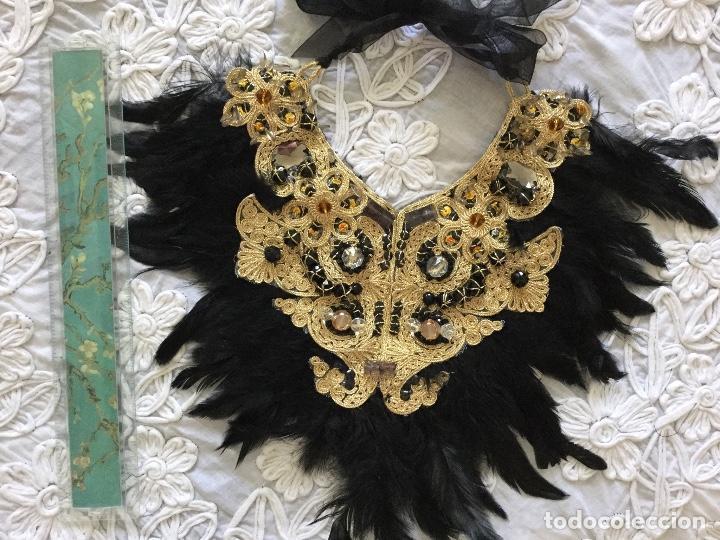 Joyeria: Collar artesanal de BISUTERIA de fiesta de la artista canaria Ruth Calderín - Foto 2 - 188831596