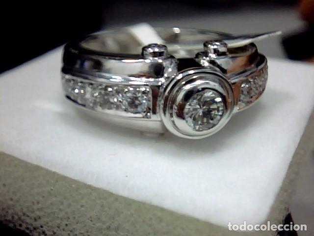 Joyeria: anillo oro blanco 18 kt diamantes - Foto 2 - 189317221