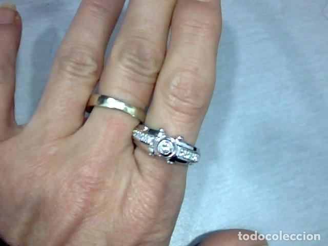 Joyeria: anillo oro blanco 18 kt diamantes - Foto 3 - 189317221