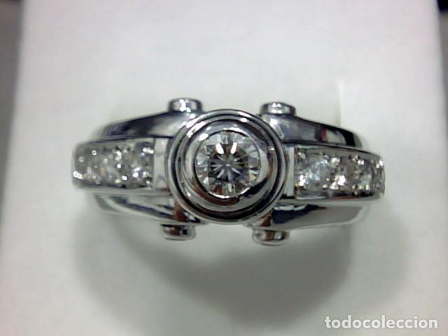 Joyeria: anillo oro blanco 18 kt diamantes - Foto 4 - 189317221