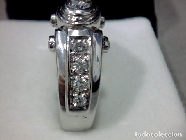 Joyeria: anillo oro blanco 18 kt diamantes - Foto 5 - 189317221