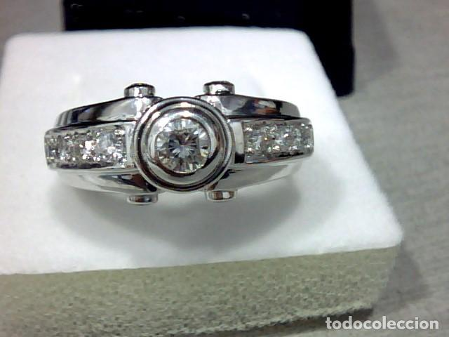 Joyeria: anillo oro blanco 18 kt diamantes - Foto 6 - 189317221