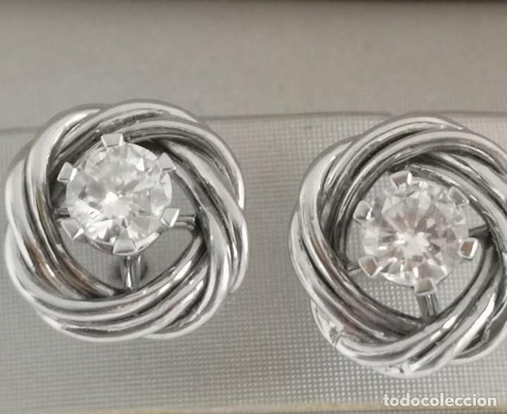 Joyeria: Conjunto Gargantilla y Pendientes Vintage Oro Blanco 18k y Diamantes - Foto 3 - 168617928