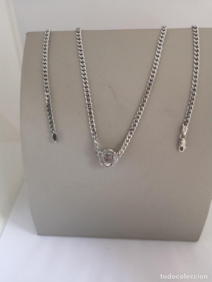 Joyeria: Conjunto Gargantilla y Pendientes Vintage Oro Blanco 18k y Diamantes - Foto 6 - 168617928