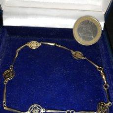 Joyeria: BONITA PULSERA ANTIGUA EN ORO 18K GF GOLD FILLED. Lote 190427625