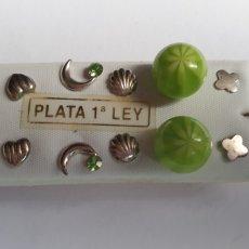 Joyeria: LOTE DE PENDIENTES DE PLATA DE LEY. Lote 190819387